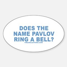 Pavlov's Bell Oval Decal