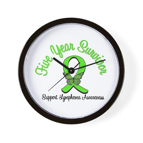 Lymphoma Survivor Wall Clock