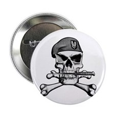 "SAS Skull and Bones 2.25"" Button (100 pack)"