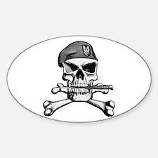 SAS Skull and Bones Oval Decal