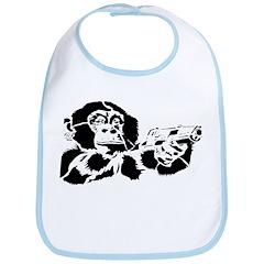 Black chimp Bib