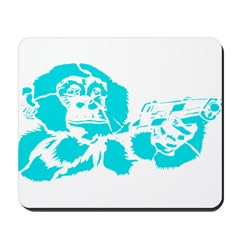 Blue chimp Mousepad