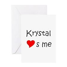 Cute Krystal Greeting Card