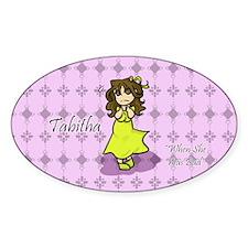 Tabitha Oval Decal