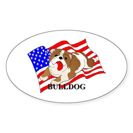 Bulldog USA Sticker (Oval 50 pk)