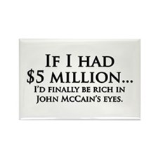 Rich in McCain's eyes Rectangle Magnet