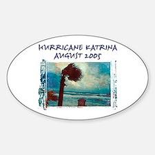 Hurricane Kristina Photo Oval Decal