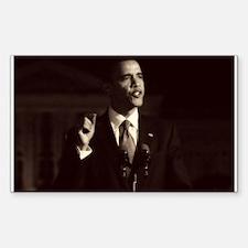 Obama Art Rectangle Decal