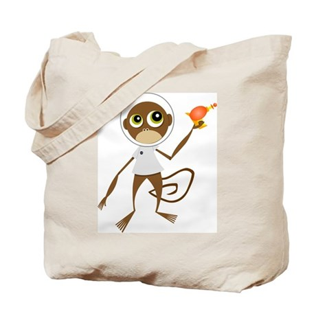 Space Monkey Tote Bag