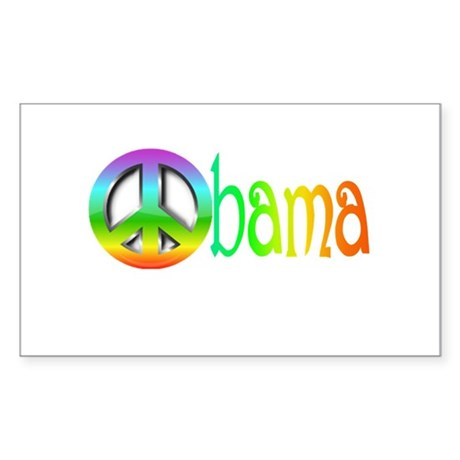 OBAMA SHOPS: Rectangle Sticker