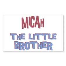 Micah - The Little Brother Rectangle Decal