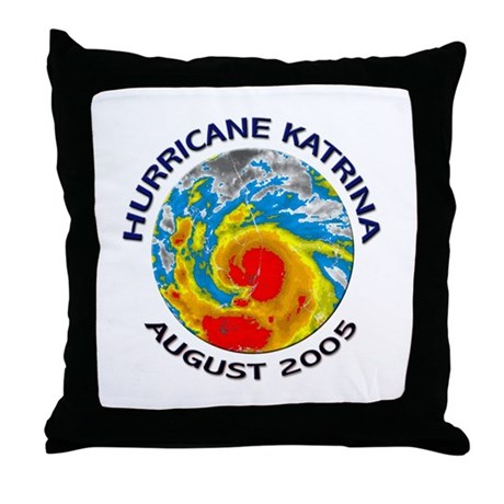 Hurricane Katrina Satellite Throw Pillow