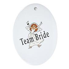 Team Bride Oval Ornament