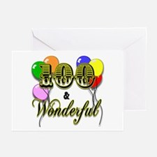 100 and Wonderful Greeting Cards (Pk of 10)