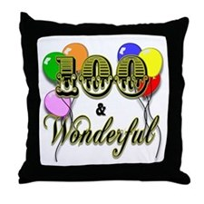 100 and Wonderful Throw Pillow