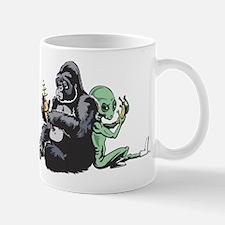 Alien and Gorilla Mug