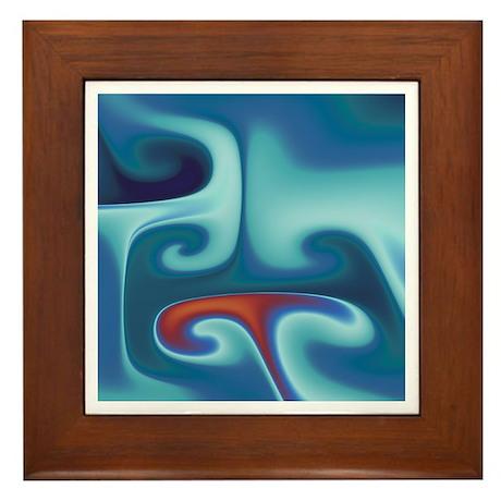 """""""Gnarl 3"""" Fractal Art Framed Tile"""