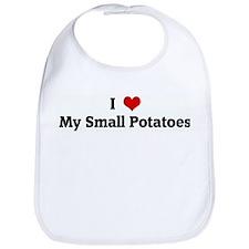 I Love My Small Potatoes Bib