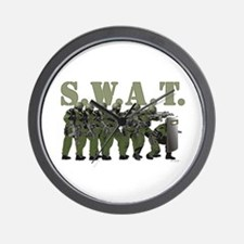 SWAT ENTRY TEAM Wall Clock