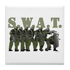 SWAT ENTRY TEAM Tile Coaster