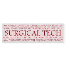 Surgical Technologist Bumper Bumper Sticker
