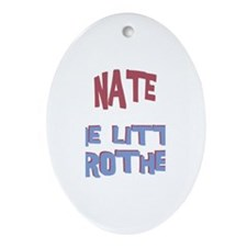 Nate - The Little Brother Oval Ornament