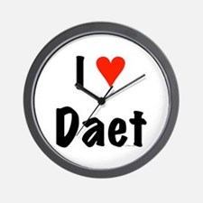 I love Daet Wall Clock