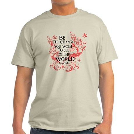 Gandhi Vine - Be the change - Maroon Light T-Shirt
