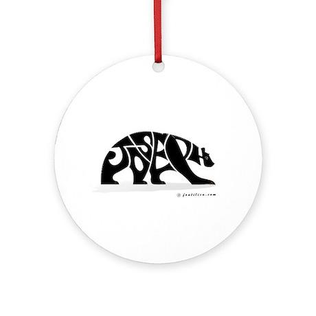 Joseph (Black Bear) Ornament (Round)