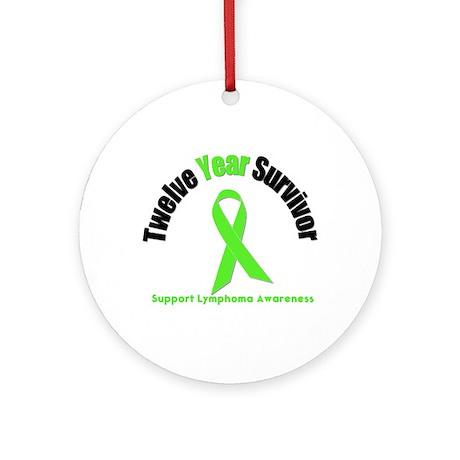 Lymphoma Survivor Ornament (Round)