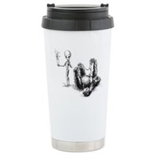 Alien and Gorilla, communicat Travel Mug