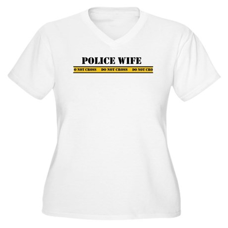 Police Wife Women's Plus Size V-Neck T-Shirt