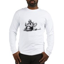 Gorilla and Alien, confusion Long Sleeve T-Shirt
