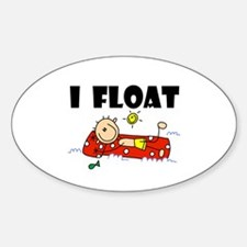 I Float Oval Decal