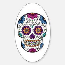 Sugar Skull Oval Sticker (10 pk)