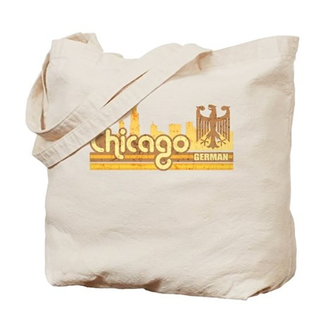 Chicago German Skyline Tote Bag