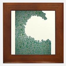 Green Wave Framed Tile