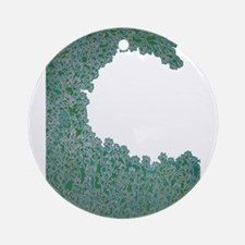 Green Wave Ornament (Round)
