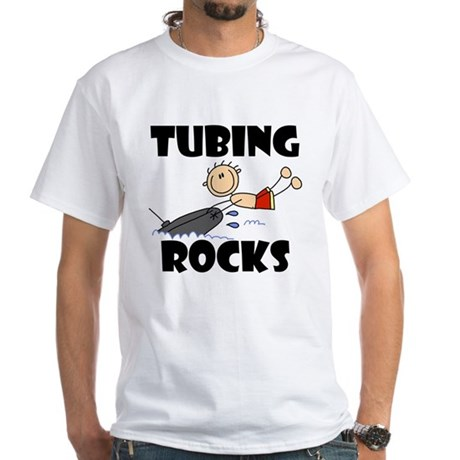 Tubing Rocks White T-Shirt