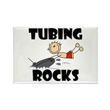 Tubing Rocks Rectangle Magnet