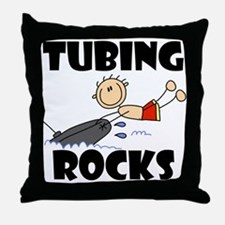 Tubing Rocks Throw Pillow