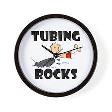 Tubing Rocks Wall Clock