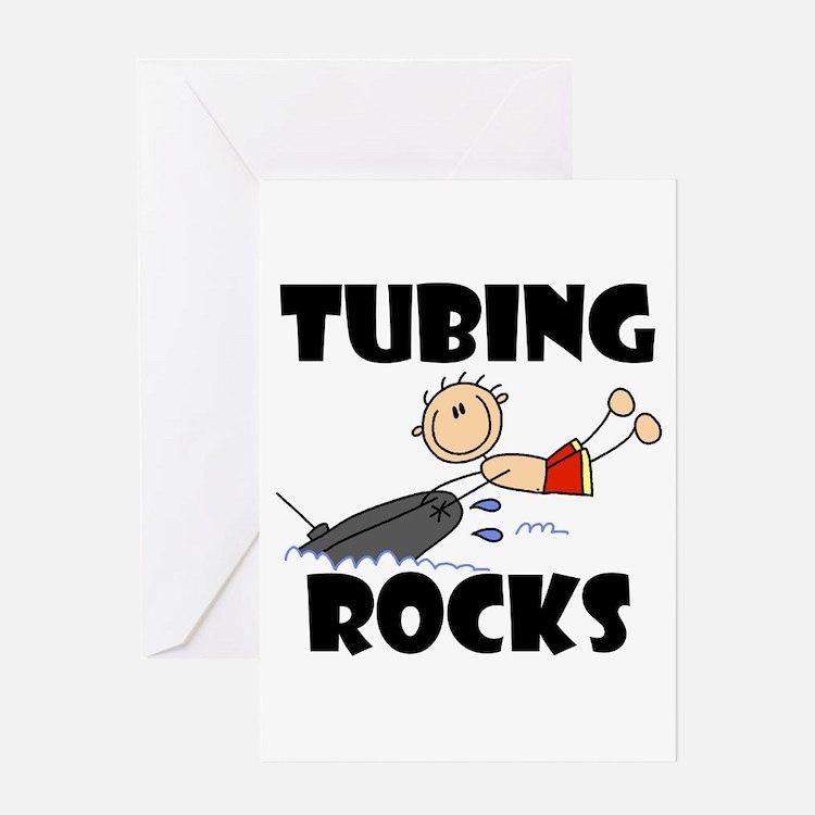 Tubing Rocks Greeting Card