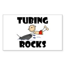 Tubing Rocks Rectangle Decal