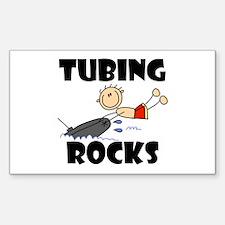 Tubing Rocks Rectangle Decal