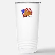 Pomeranian USA Travel Mug