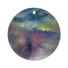 Colorful Abstract Drawing Ornament (Round)