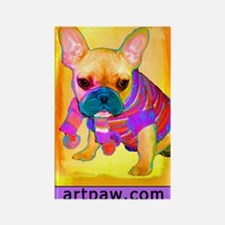 Cool Frenchie art Rectangle Magnet