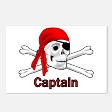 Pirate Captain Skull and Bones Postcards (Package