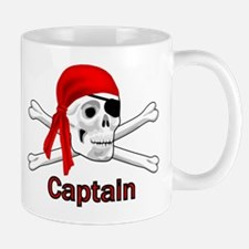 Pirate Captain Skull and Bones Mug